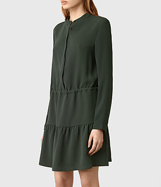 Womens Lin Sleeve Dress (SMOKE BLACK) - product_image_alt_text_2