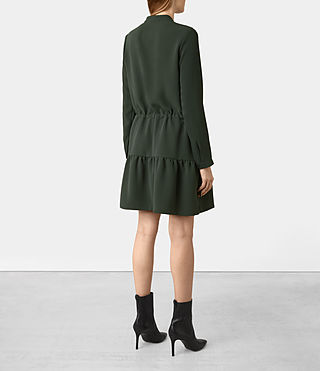Damen Lin Sleeve Dress (SMOKE BLACK) - product_image_alt_text_4