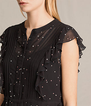 Femmes Robe sans manches Star (Black) - product_image_alt_text_2