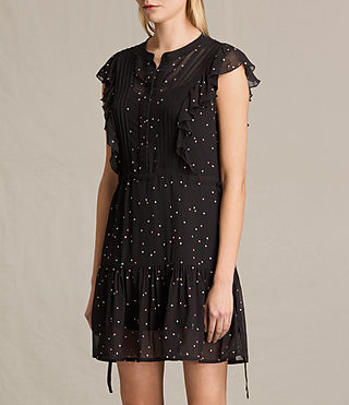 Femmes Robe sans manches Star (Black) - product_image_alt_text_3