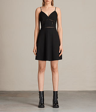 Women's Clementine Dress (Black) - product_image_alt_text_3