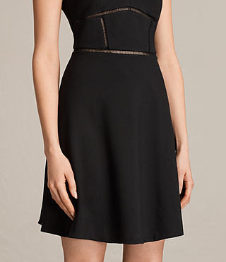 Women's Clementine Dress (Black) - product_image_alt_text_5