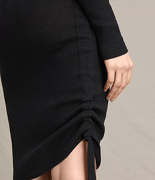 Womens Vana V-Neck Dress (Black) - product_image_alt_text_5