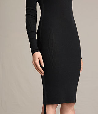 Womens Vana V-Neck Dress (Black) - product_image_alt_text_6