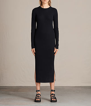 Damen Lavine Crew Neck Dress (Ink Blue)
