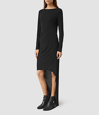 Mujer Meli Dress (Black) - product_image_alt_text_1