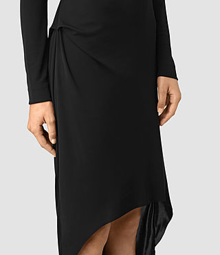 Mujer Meli Dress (Black) - product_image_alt_text_2