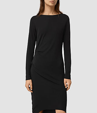 Mujer Meli Dress (Black) - product_image_alt_text_3
