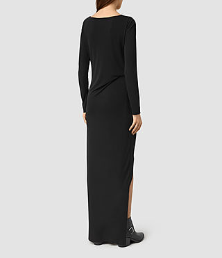 Mujer Meli Dress (Black) - product_image_alt_text_5