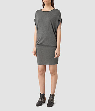 Womens Iris Jersey Dress (Grey Marl)