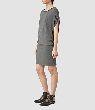 Womens Iris Dress (Grey Marl) - product_image_alt_text_3