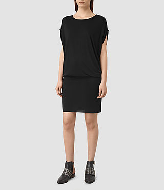 Mujer Iris Dress (Black) - product_image_alt_text_1