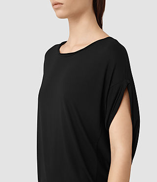 Mujer Iris Dress (Black) - product_image_alt_text_2