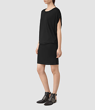 Womens Iris Dress (Black) - product_image_alt_text_3