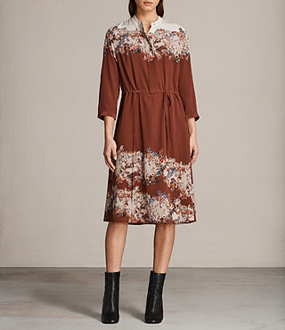 Womens Vera Clement Dress (Rust) - Image 1