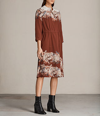 Women's Vera Clement Dress (Rust) - Image 3