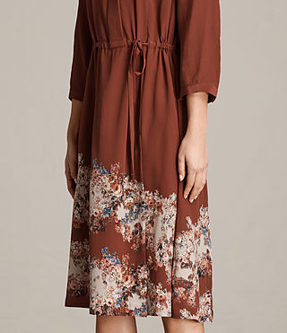Womens Vera Clement Dress (Rust) - Image 4