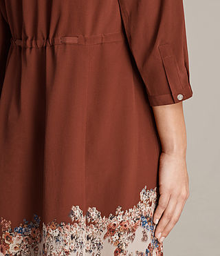 Womens Vera Clement Dress (Rust) - Image 6