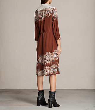 Womens Vera Clement Dress (Rust) - Image 7