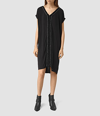 Womens Aria Tee Dress (Black)