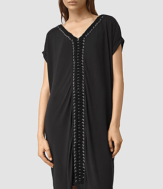 Women's Aria Tee Dress (Black) - product_image_alt_text_2