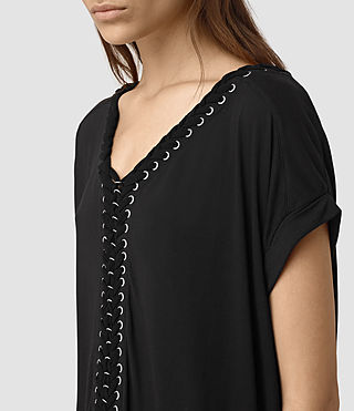 Women's Aria Tee Dress (Black) - product_image_alt_text_3