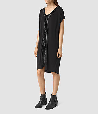Women's Aria Tee Dress (Black) - product_image_alt_text_4