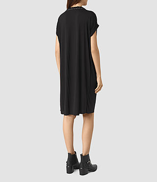 Women's Aria Tee Dress (Black) - product_image_alt_text_5