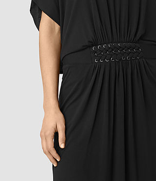 Womens Aria Dress (Black) - product_image_alt_text_2