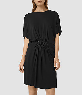 Womens Aria Dress (Black) - product_image_alt_text_3