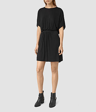 Womens Aria Dress (Black) - product_image_alt_text_4