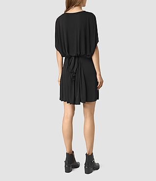 Womens Aria Dress (Black) - product_image_alt_text_5