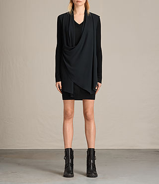 Mujer Drina Panel Dress (Black)