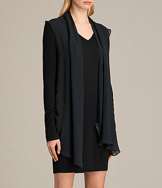 Damen Drina Panel Dress (Black) - product_image_alt_text_3