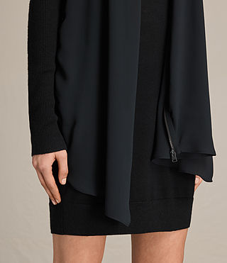 Damen Drina Panel Dress (Black) - product_image_alt_text_4