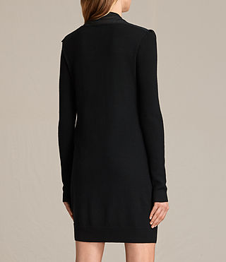 Damen Drina Panel Dress (Black) - product_image_alt_text_7