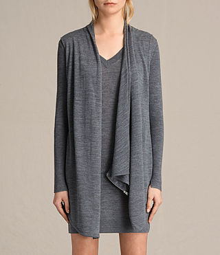 Mujer Drina V-neck Dress (CHARCOAL GREY MARL) - product_image_alt_text_3