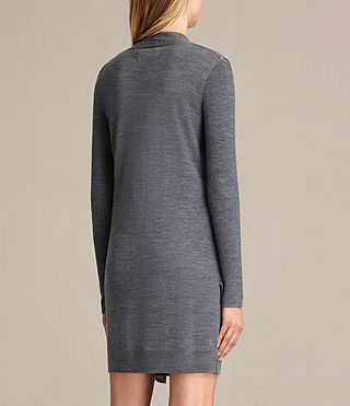 Mujer Drina V-neck Dress (CHARCOAL GREY MARL) - product_image_alt_text_8