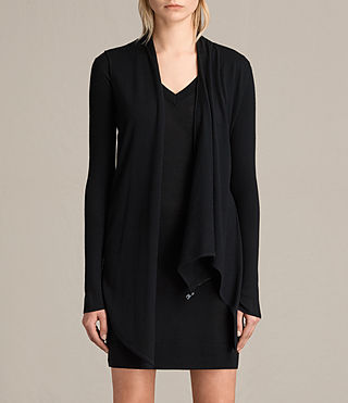 Womens Drina V-Neck Dress (Black) - product_image_alt_text_5