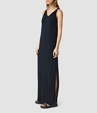 Donne Evelyn Dress (DARK NAVY BLUE) - product_image_alt_text_3