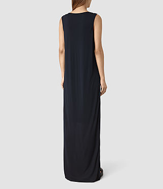 Donne Evelyn Dress (DARK NAVY BLUE) - product_image_alt_text_4