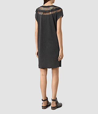 Mujer Slash Tee Dress (Black) - product_image_alt_text_4