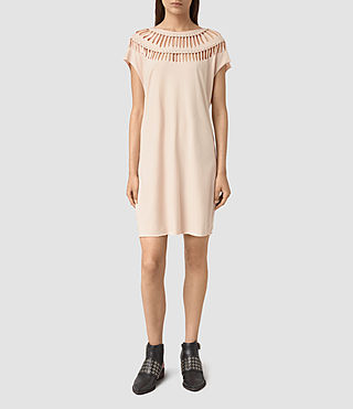 Damen Slash Tee Dress (Vintage Pink)