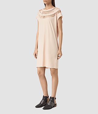 Femmes Slash Tee Dress (Vintage Pink) - product_image_alt_text_3