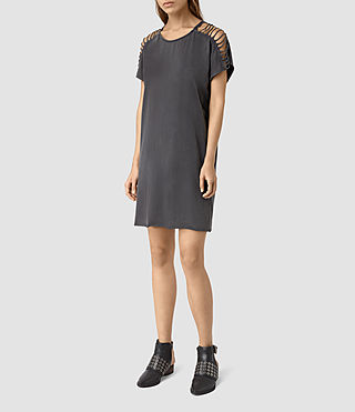 Donne Slash Shoulder Tee Dress (Black) - product_image_alt_text_3