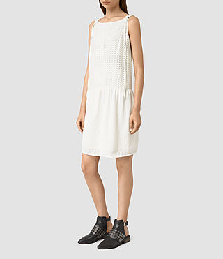 Mujer Milda Dress (Chalk White) - product_image_alt_text_3