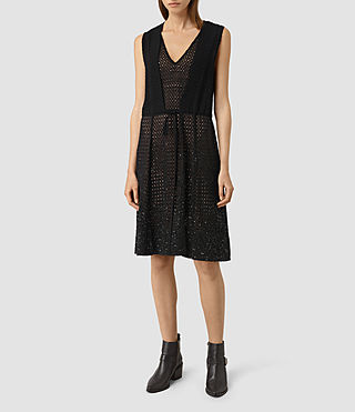 Damen Milda Embellished Long Dress (Black)