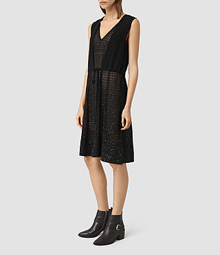 Mujer Milda Embellished Long Dress (Black) - product_image_alt_text_4