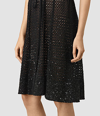 Mujer Milda Embellished Long Dress (Black) - product_image_alt_text_5
