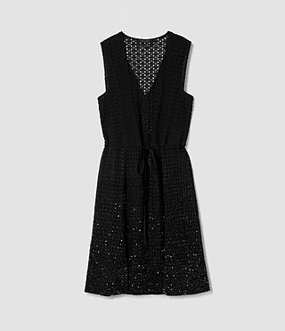 Mujer Milda Embellished Long Dress (Black) - product_image_alt_text_6